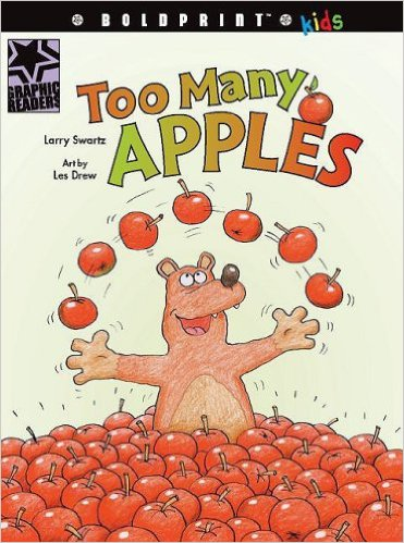 """<a href=""""http://www.amazon.ca/Too-Many-Apples-6-Pack/dp/1554774004"""" target=""""_blank"""">AVAILABLE @ AMAZON.CA &rarr;</a>"""